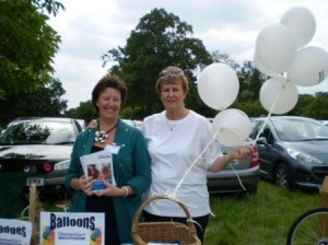Sue Hill from Dementia UK and myself at the Dementia UK stall
